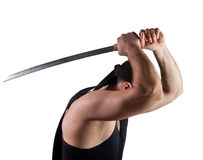 Fighter with sword Stock Image