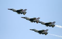 A fighter team formation stock photo