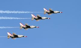 A fighter team formation Stock Photos