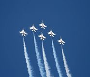 A fighter team formation Royalty Free Stock Photos