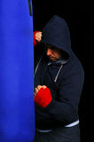 Fighter in a training moment Royalty Free Stock Photography