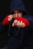 Fighter in a training moment Stock Images