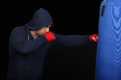 Fighter in a training moment Stock Photography
