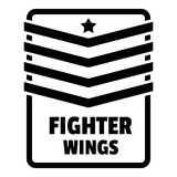 Fighter troop wings logo, simple style. Fighter troop wings logo. Simple illustration of fighter troop wings vector logo for web design isolated on white Stock Photo