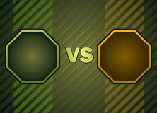 Fighter Versus Screen. Fighter Versus Screen with Blank Octagonal Frames, Vector Illustration Stock Photography