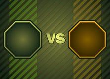 Fighter Versus Screen. Stock Photography