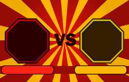 Fighter Versus Screen with Blank Octagonal Frames. Fighter Versus Screen with Blank Octagonal Frames, Vector Illustration royalty free illustration