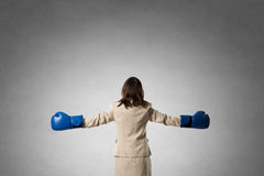 She is fighter Stock Photography