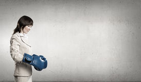 She is fighter Stock Photos