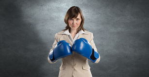 She is fighter Stock Images