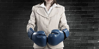 She is fighter Royalty Free Stock Images