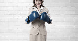 She is fighter Stock Image