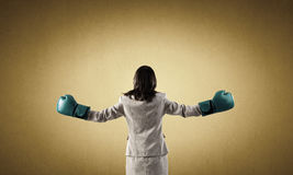 She is fighter Royalty Free Stock Photo
