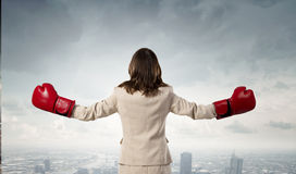 She is fighter Royalty Free Stock Photos