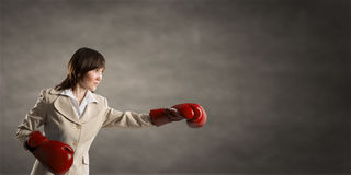 She is fighter Stock Photo