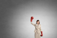She is fighter Royalty Free Stock Photography