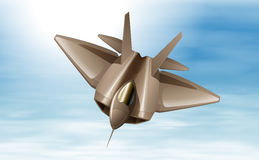 A fighterjet in the air. Illustration of a fighterjet in the air Royalty Free Stock Image