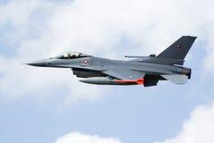 Fighterjet del F16 della Danimarca Fotografia Stock