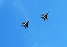 Fighters in flight Stock Photo