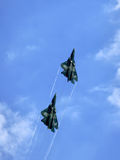 Fighters in flight Royalty Free Stock Photo