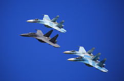 Fighters. Joint maneuvering stock images