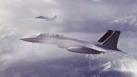 Fighters patrol