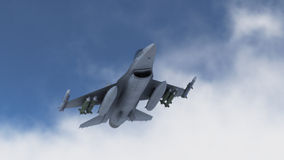 Fighters. Plan in combat mission Royalty Free Stock Photos