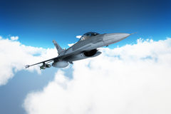 Fighters. Plan in combat mission Stock Photo