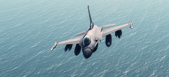 Fighters. Plan in combat mission Royalty Free Stock Photography