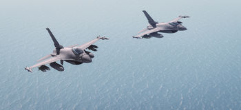 Fighters. Plan in combat mission Stock Image