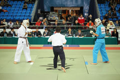 Fighters prepare for battle at World Cup 2011 KUDO Royalty Free Stock Photos
