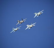 Fighters. Rhombus formation Royalty Free Stock Image
