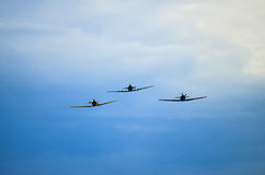 Fighters in sky Royalty Free Stock Images