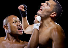 Fighters Sparring Royalty Free Stock Photo