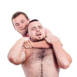 Fighters wrestling Stock Photography