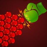 fighting stock de ilustración
