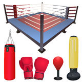 Fighting accessories vector Royalty Free Stock Images