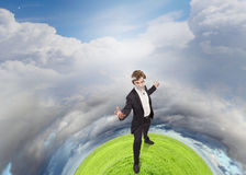 Fighting with air pollution Stock Photo