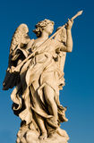 Fighting Angel. Angel statue at Sant'Angello bridge, in Rome Stock Images