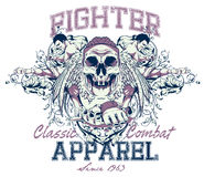 Fighting apparel. Vector illustration ideal for printing on apparel clothes Royalty Free Stock Images