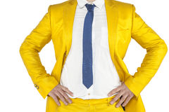 Fighting attitude businessman, confidence. Isolated on the withe background Stock Photos
