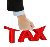 Fighting with big taxes. Stock Photos