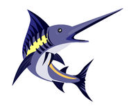 Fighting blue marlin. Vector art of a Fighting blue marlin Royalty Free Stock Photo