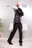 Fighting business man upright and ready Royalty Free Stock Photography