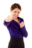 Fighting business woman Stock Photos