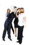 Fighting business women royalty free stock photos