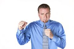 Fighting Businessman Royalty Free Stock Image