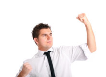 Fighting businessman Stock Photo