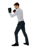 Fighting businessman Stock Photography