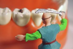 Fighting cavities concept #3 Stock Photography